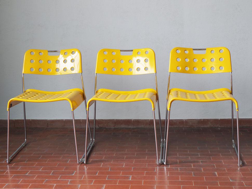 "rodney Set ""omkstak 3 Chair"" bieffeplastic Kinsman Sedie Di Padova N8kn0PwOX"