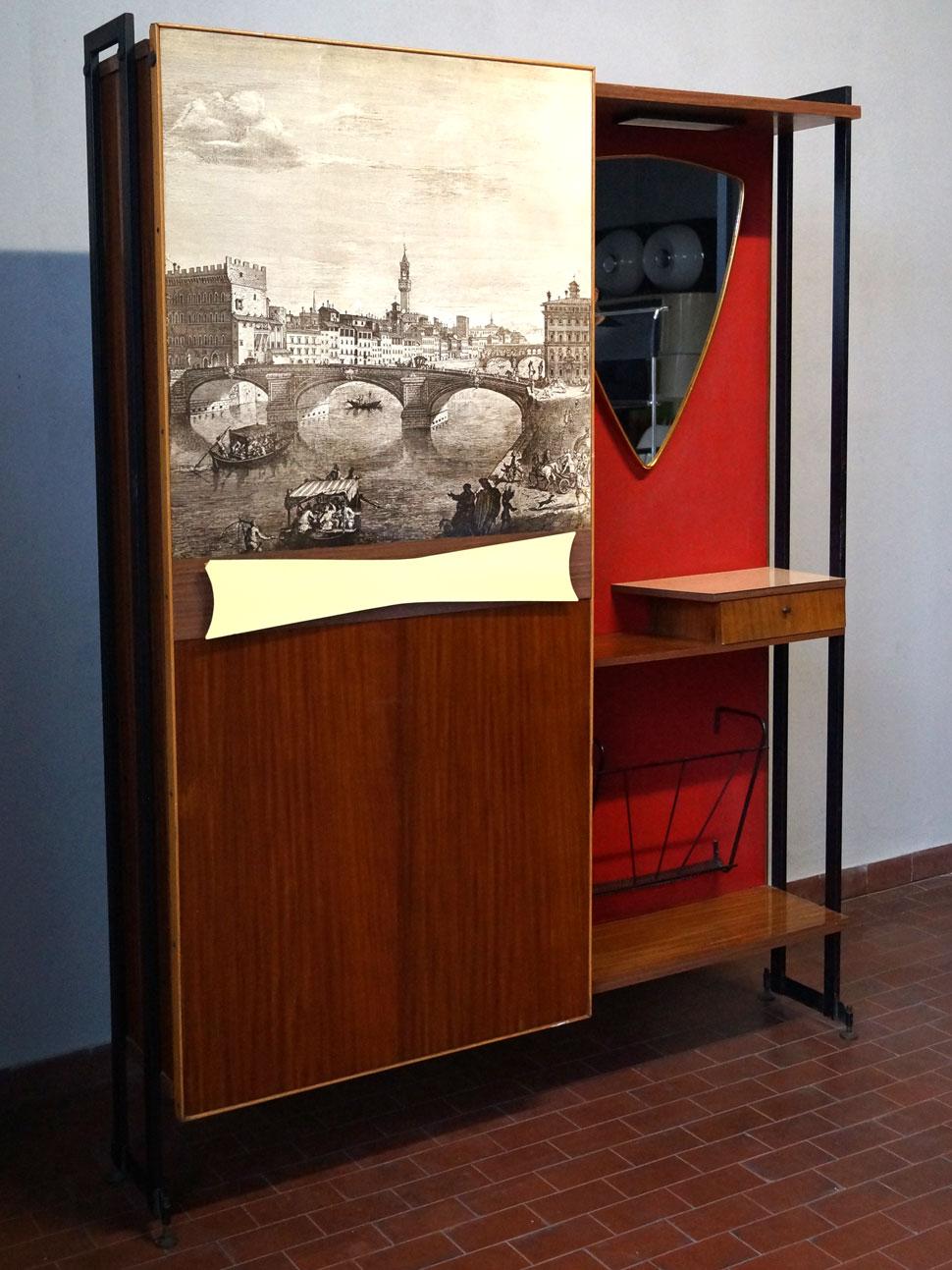 Mobile appendiabiti da ingresso con stampa | 20th century design