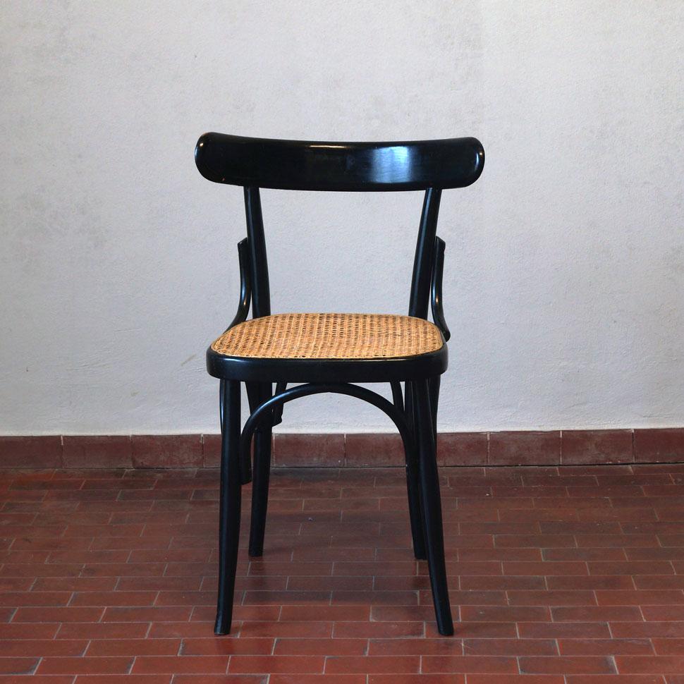 sedia bistrot paglia di vienna 20th century design